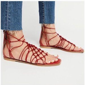 """Free People """"Forget Me Knot"""" Gladiator Sandals 9"""